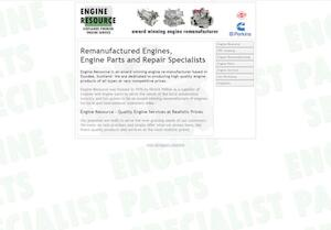 website designed for Engine Resource