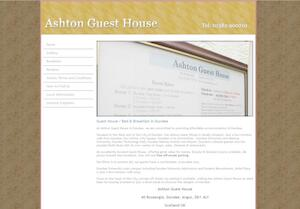 website designed for The Ashton
