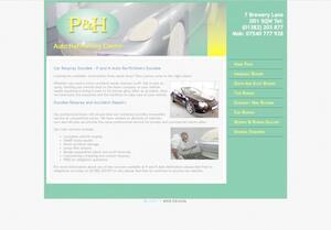 website designed for P and H Autos
