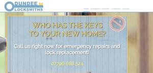 website designed for Dundee Locksmiths