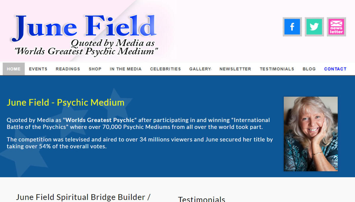 June Field Spiritual Medium Dundee