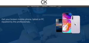 website designed for CK Electronics Edinburgh