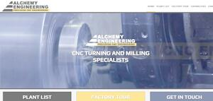 website designed for Alchemy Engineering Ltd
