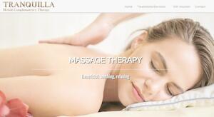 website designed for Tranquilla