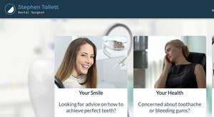 website designed for Stephen Tallett Dental Practice