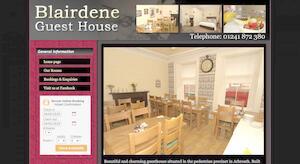 website designed for Blairdene Guest House