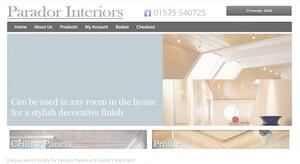 website designed for Parador Interior
