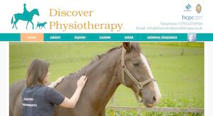 website designed for DISCOVER PHYSIOTHERAPY