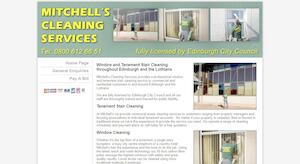 website designed for Mitchell Clean