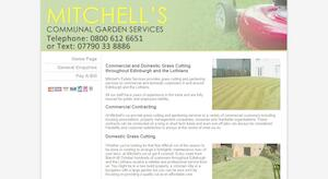 website designed for Mitchell Mow