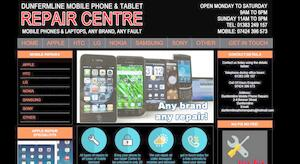 website designed for Phone Master Dunfermline