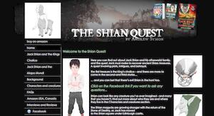 website designed for Shian Quest