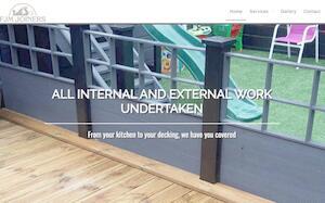 website designed for FJM Joiners Ltd