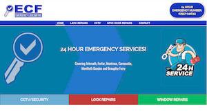 website designed for ECF Locksmiths
