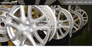 website designed for Dundee Powder Coatings