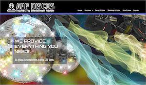 website designed for ARP Discos