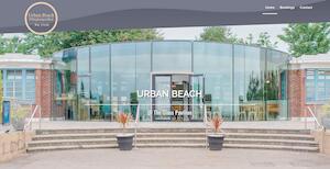 website designed for Urban Beach Glass Pavilion