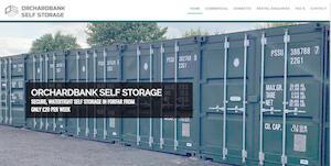 website designed for Orchardbank Self Storage