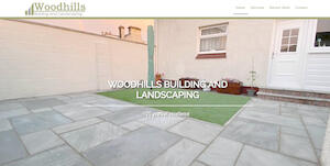 website designed for Woodhills Building and Landscaping