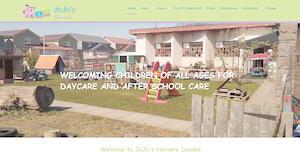 website designed for Jojos Nursery