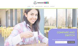 website designed for Fundraiser Energy