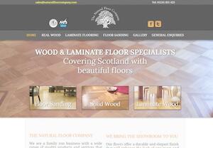 website designed for natural floor company