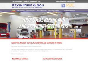 website designed for Kevin Pirie and Son